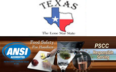 TX Responsible Serving + Food Handler Safety Online Training & Certification
